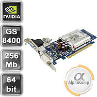 Видеокарта PCI-E NVIDIA Asus 8400GS (256Mb/DDR2/64bit/TV/VGA/DVI) б/у