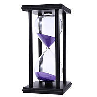 60 минут Песок Песочные часы Таймер Счётчик Тайм-аут Часы Таймер Офисная отделка Черная рамка