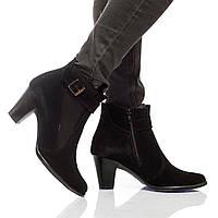 Ботинки на каблуке, из натуральной кожи, замша, с мехом на молнии. Два цвета! Размеры 36-41 модель S2606, фото 1