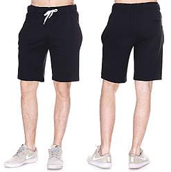 Черные спортивные шорты мужские футбольные трикотажные