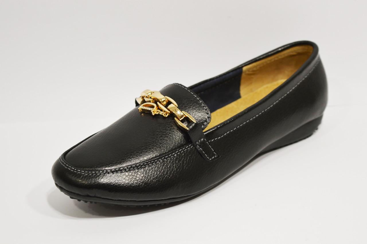 Туфли из экокожи кожи с цепью Allshoes 96167