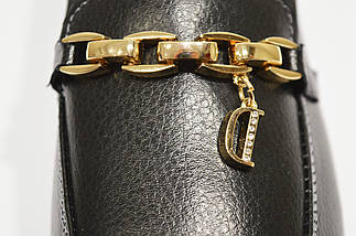 Туфли из экокожи кожи с цепью Allshoes 96167, фото 2