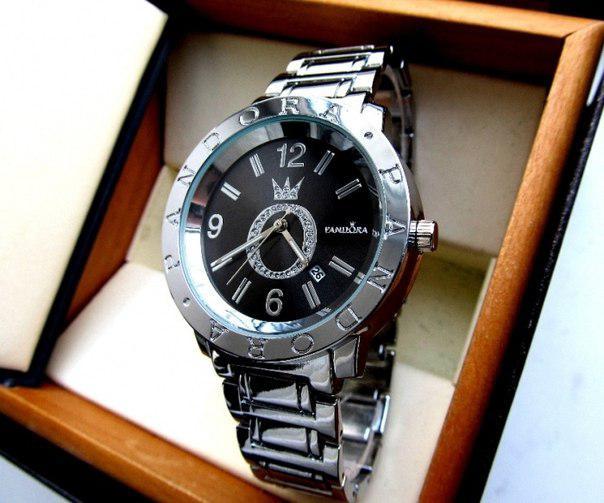 Часы PANDORA в серебре. Качественные женские часы. Интернет магазин часов. Стильные женские часы.