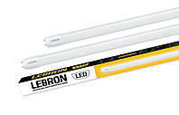 LED-Tube лампа LEBRON T8 600мм 9W 6200К (стекло) 800Lm
