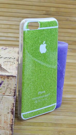 Силиконовый чехол на Айфон, iPhone 6 / 6s Marble зелёный