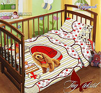 Детский комплект постельного белья в кроватку  Дружок