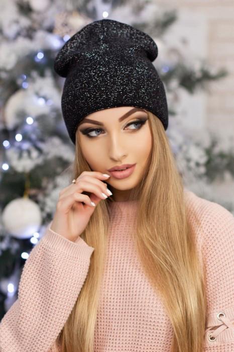 Женская шапка-колпак «Лори» Черный