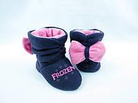 """Тапочки Бантики """"Frozen"""" / домашние тапочки детские"""