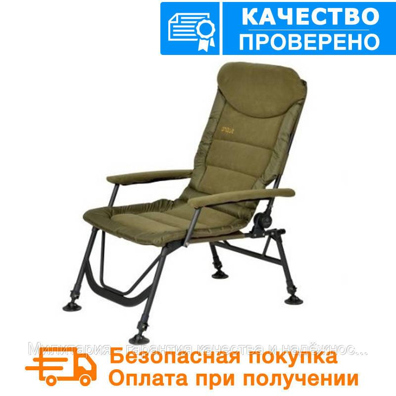 Карповое кресло Elektrostatyk с подлокотниками (нагрузка до 120 кг) (FK7)