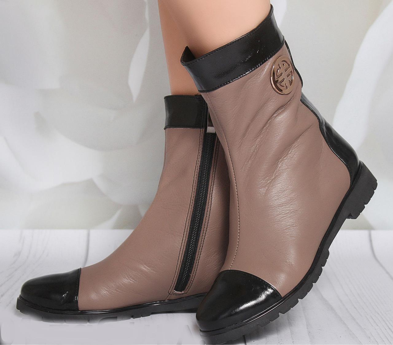 Ботинки на каблуке, из натуральной кожи, замша, лака, на молнии. Семь цветов! Размеры 36-41 модель s2001