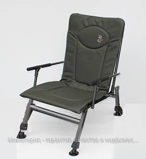 Карповое кресло Elektrostatyk с подлокотниками (нагрузка до 110 кг) (F8R), фото 2