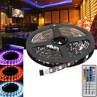 2x50CM+2x100CM USB SMD5050 RGB LED Полоса пропускания подсветки телевизора для телевизора Набор+Дистанционное Управление для DC5V