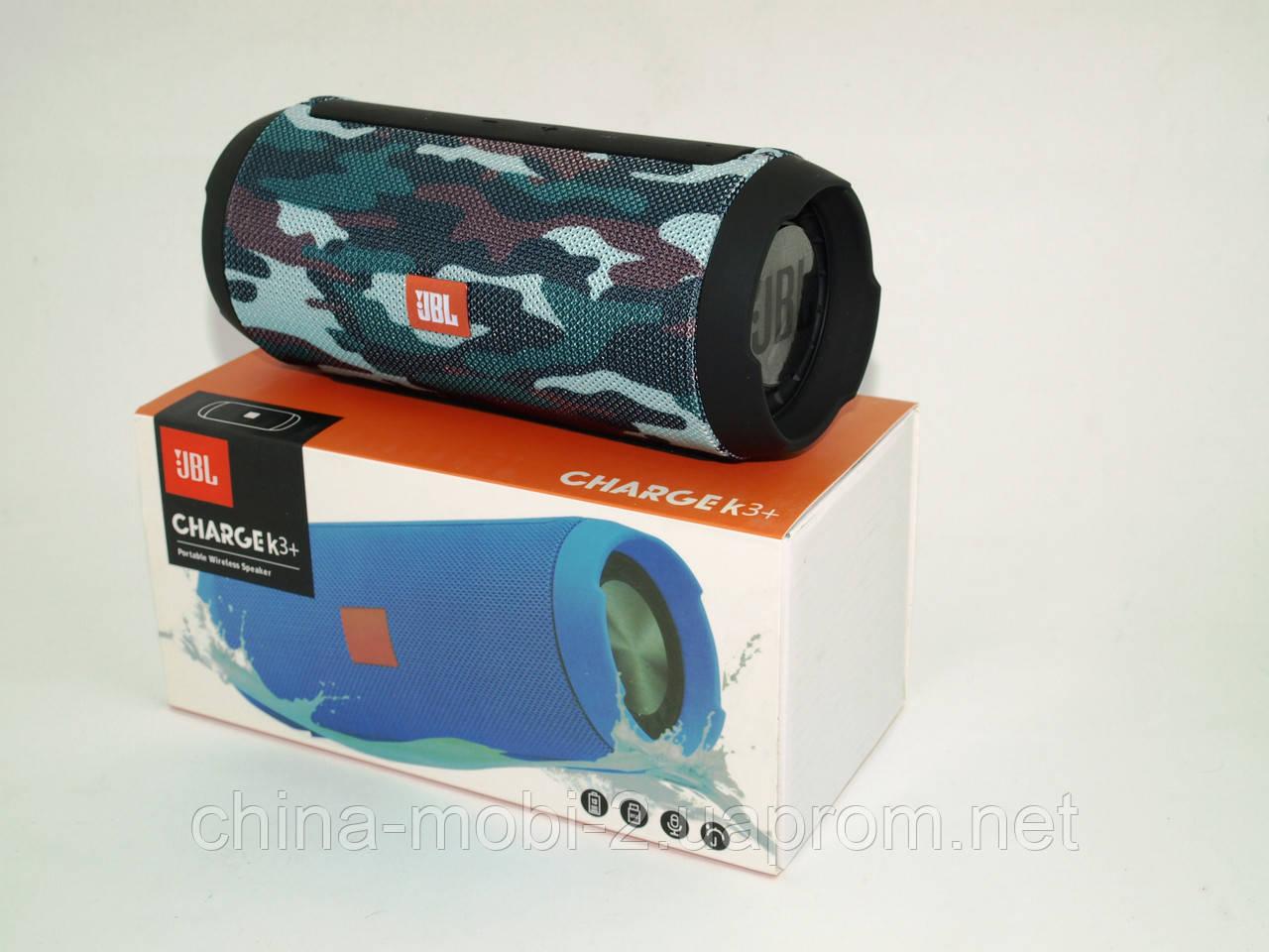 JBL Charge K3+ 15W копия, Bluetooth колонка с FM MP3, Squad камуфляжная