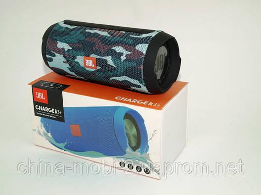 JBL Charge K3+ 15W копия, Bluetooth колонка с FM MP3, Squad камуфляжная, фото 2
