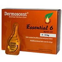 """Капли для кожи и шерсти для собак """"Essential 6 spot-on"""" 0-10 кг, Dermoscent™ (1 пипетка*0,6мл)"""