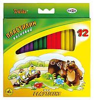 Пластилин восковой Пчелка 12цветов + стек