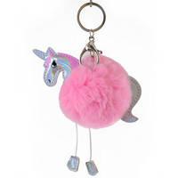 Аксессуар меховой Fluffy Unicorn, розовый (натуральный мех)