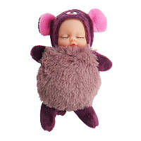10 см Горячие милые мини-куклы Key Chain Toy Cartoon Sleeping Baby Plush Кулон Модельный подарок для Ch
