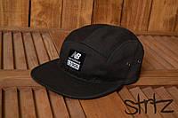 Качественная бейсболка катоновая кепка молодежная реперка нью баланс New Balance черная реплика, фото 1