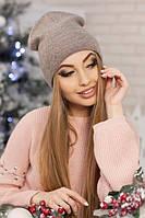 Женская шапка-колпак «Лори» Темный кофе