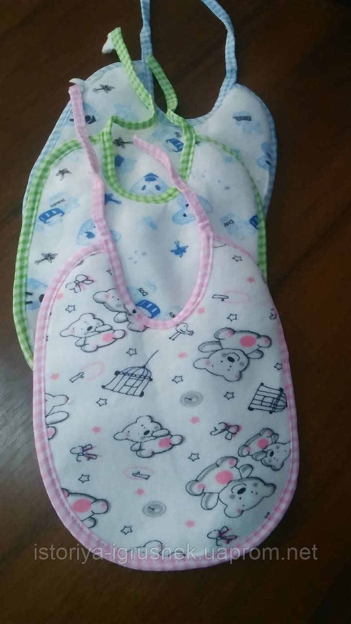 Детские слюнявчики для новорожденного в ассортименте