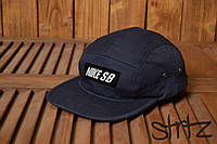 Спортивная реперка молодежная бейсболка оригинальная унисекс найк сб Nike SB темно синяя реплика, фото 1