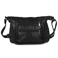 """Женская черная сумочка через плечо """"Seven"""" 607"""