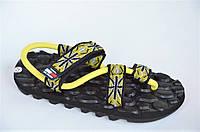 Босоножки шлепанци вьетнамки Clima Cool желтый женские сандали. Со скидкой