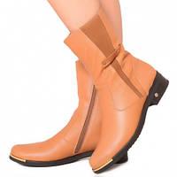 Ботинки на каблучке, из натуральной кожи, замша, на молнии. Три цвета! Размеры 36-41 модель S2224, фото 1