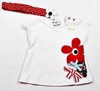 Детская футболка белая для девочки