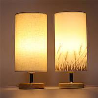 E27 Современный деревянный стол Лампа Eye-Care Модный ночник для Свадебное Спальня Home Decor