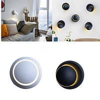 5W Современный 360 градусов Вращающийся LED Бра светлый Белый/Теплый белый Внутренний декоративный Лампа AC220V