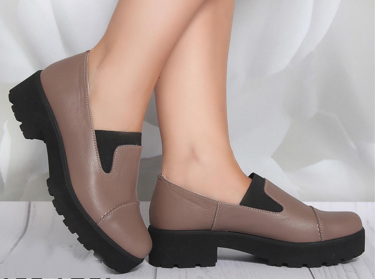Ботинки на каблучке, из натуральной кожи, замша, лака, на резинке. Восемь цветов! Размеры 36-41 модель S1103
