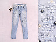 Оригинальные джинсы для девочки на возраст 6, 7лет Турция;
