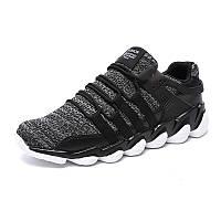 МужскиедышащиеголеностопныекроссовкиStretchyWeave Knit Non-slip Comfy Running Walking Shoes