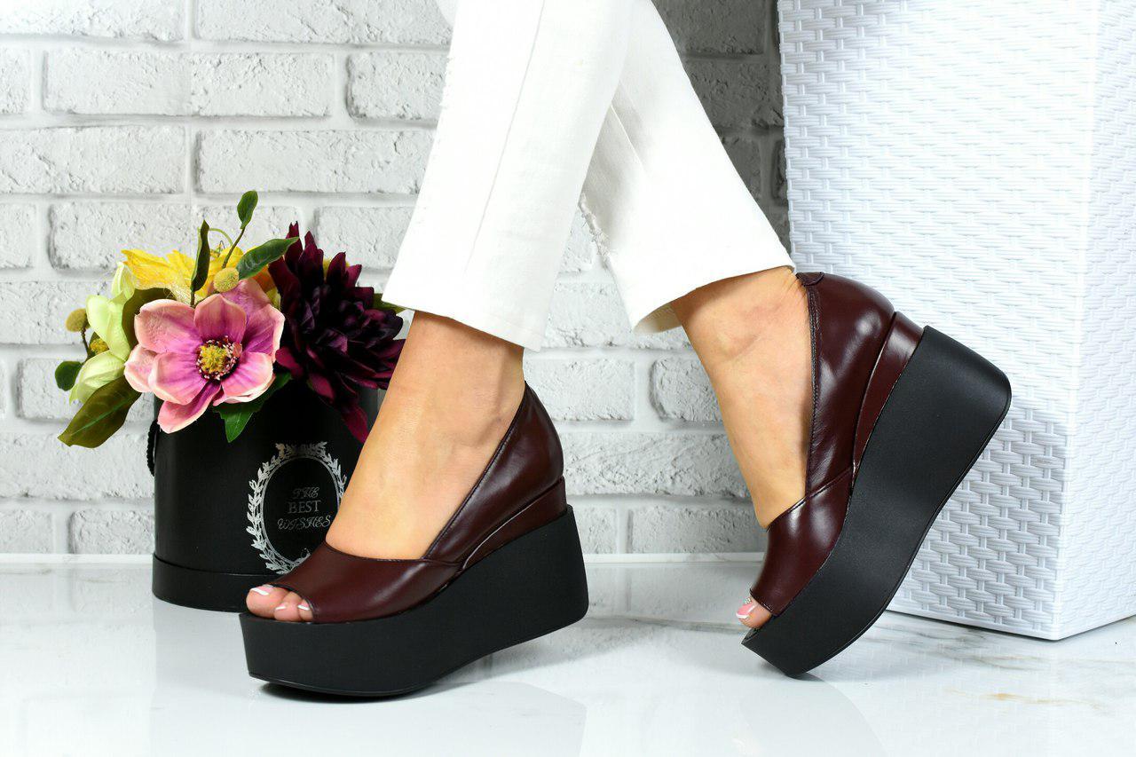 5291328de Женские летние туфли-босоножки на платформе.Натуральная кожа. - *МОДНЫЙ  BAZAAR*