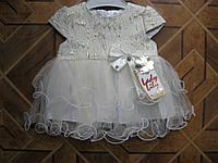 Нарядное летнее платье для маленькой принцессы 6,9,12,18 мес Турция