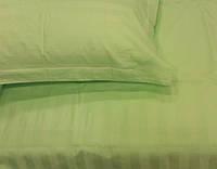 Набор постельного белья семейный 5 предметов, сатин-страйп салатовый