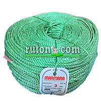 """Веревка крученая, диаметр 3,5 мм/200 м. Полипропиленовая """"Marmara"""" (Турция)."""
