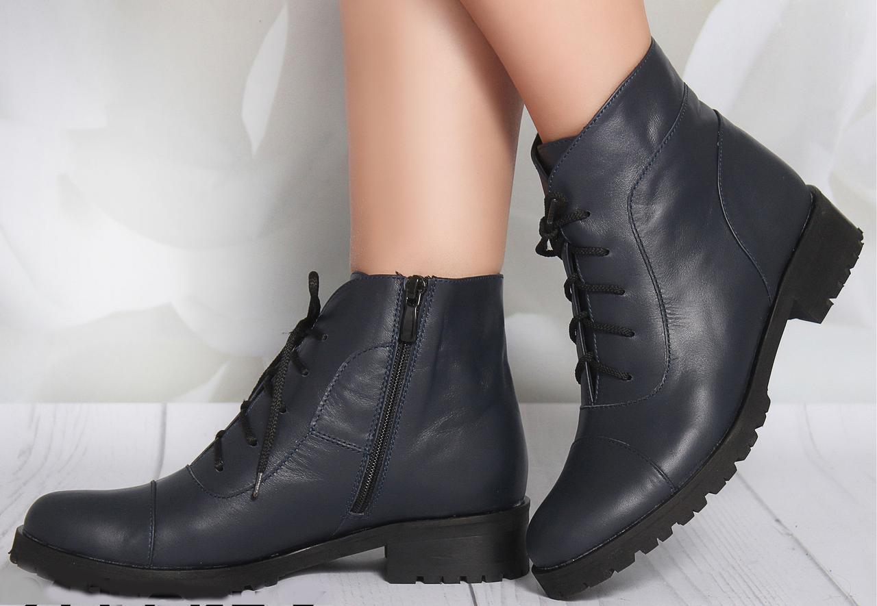 Ботинки на каблучке, из натуральной кожи, замша, лака, на шнурках. Восемь цветов! Размеры 36-41 модель s2211