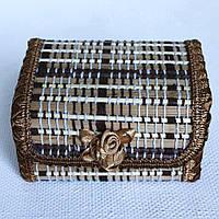 Деревянная шкатулка. Бамбук. № 515-3