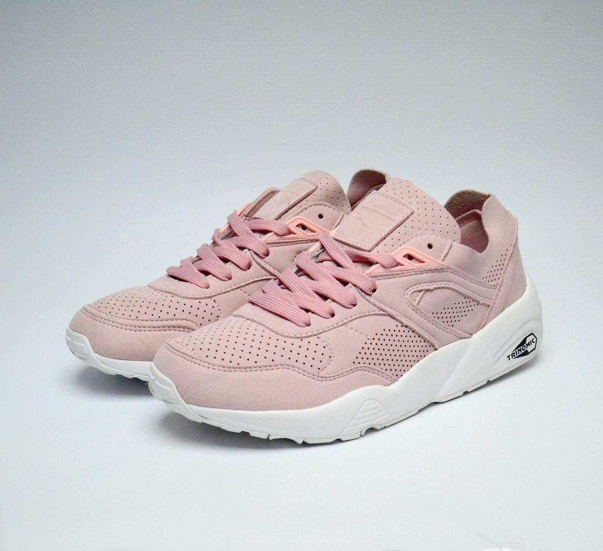 367edff07618 Женские кроссовки Puma Soft Pink Trinomic, Розовые, Замш, Прошиты -  Интернет-магазин