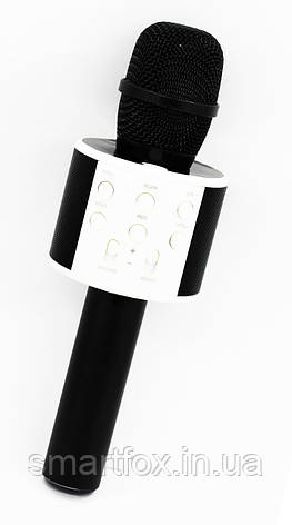 Микрофон караоке WS-858-1 с колонкой блютус, фото 2