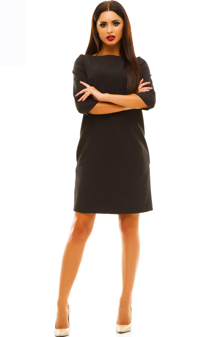 Черное повседневное платье  -Шерри - от производителя
