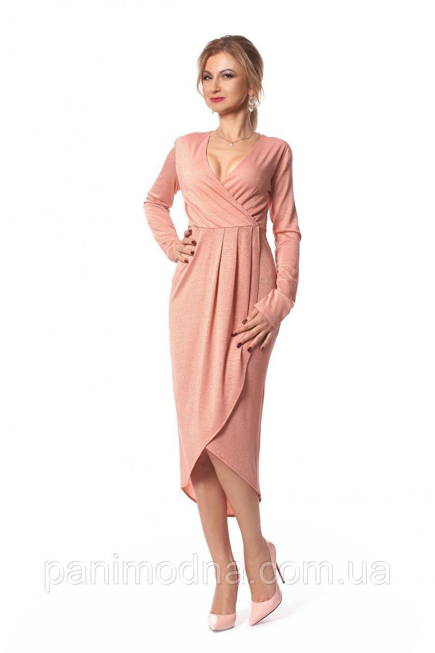Нежное платье с люрексом, Хит года.  код 1032
