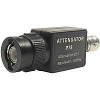 P78 20: 1 Аттенюатор сигнала 10 МГц Ширина полосы частот Осциллограф Аксессуары Адаптер BNC 1TopShop