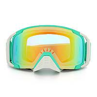 Мотоцикл Анти Туман Тупые очки Снегоход SKI Объектив Сферическая зеленая рамка