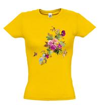 Женская футболка с ЦВЕТАМИ И БАБОЧКОЙ, фото 3