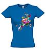 Женская футболка с ЦВЕТАМИ И БАБОЧКОЙ, фото 5