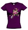 Женская футболка с ЦВЕТАМИ И БАБОЧКОЙ, фото 4